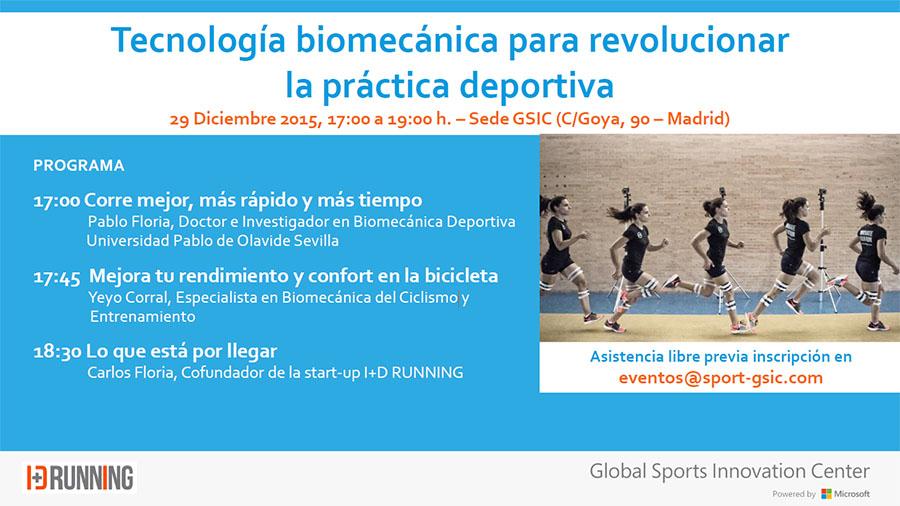 Sesión sobre tecnología biomecánica aplicada al running